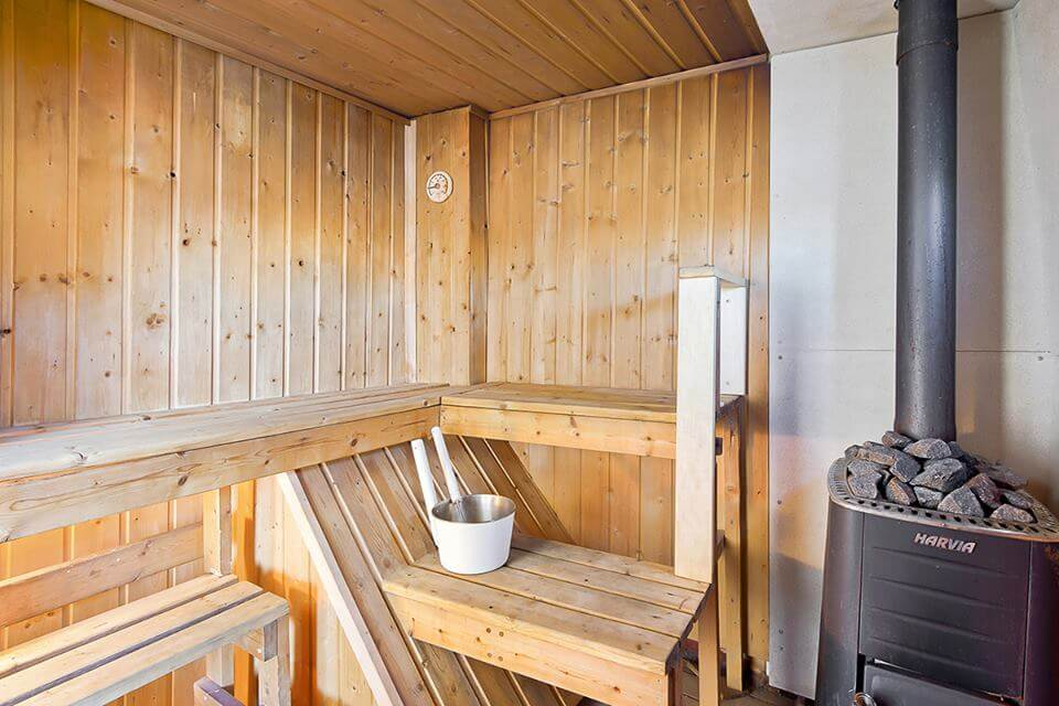 Private sauna in Nikolai boat. Private Offshore Adventure has it all.